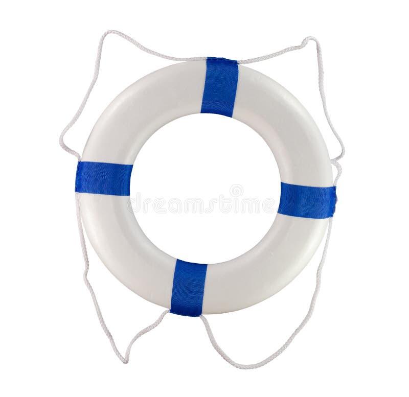 A poupança de vida throwable da associação e do barco buoy anéis azuis imagens de stock