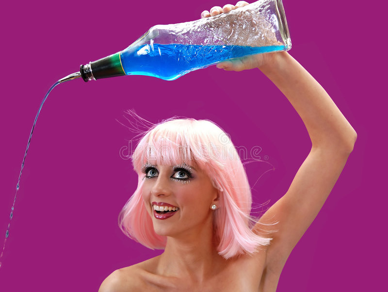 Download Pour stock photo. Image of blue, pour, smile, happy, bartender - 6496396