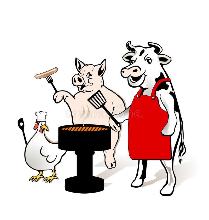 Pour avoir un barbecue illustration libre de droits