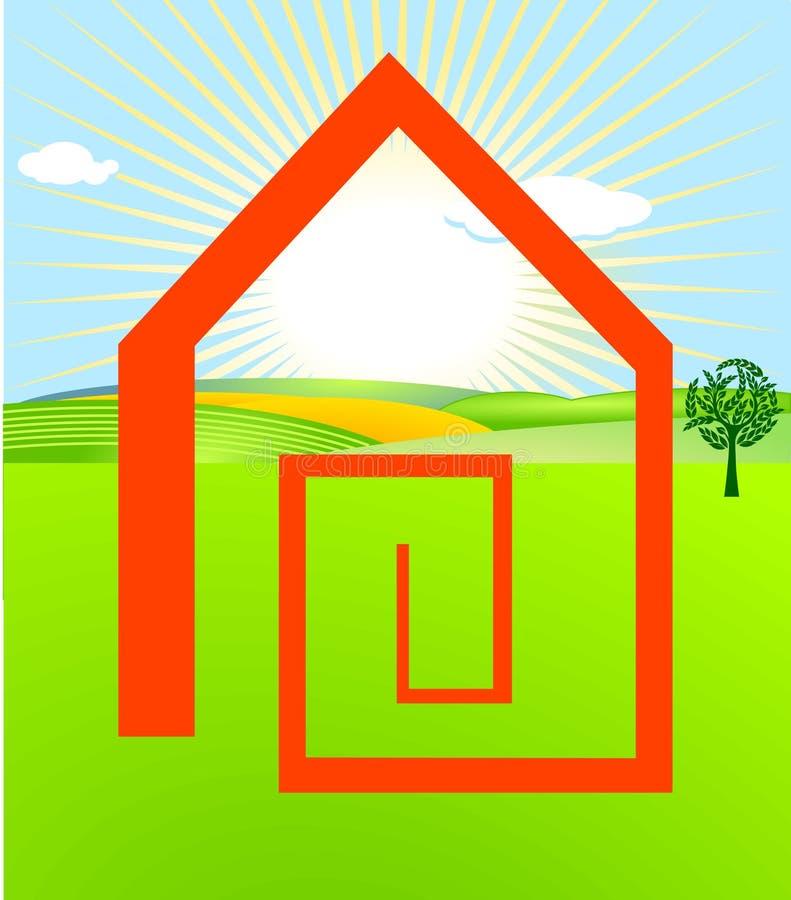 Pour avoir une maison illustration libre de droits