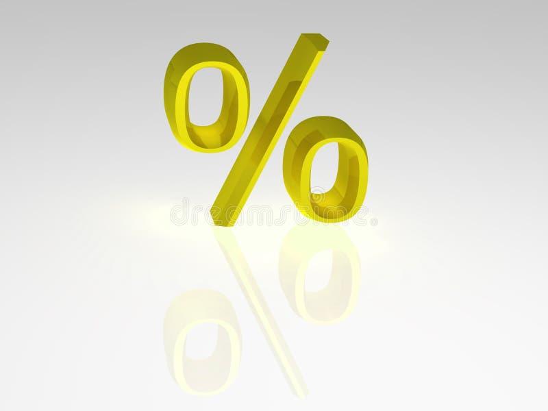 Pour cent. illustration libre de droits