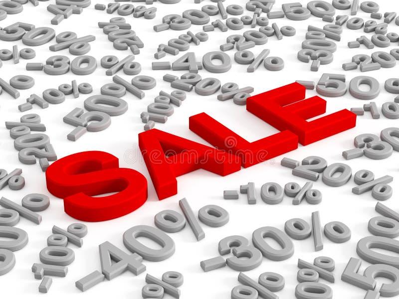 Pour cent de vente et d'escompte illustration de vecteur