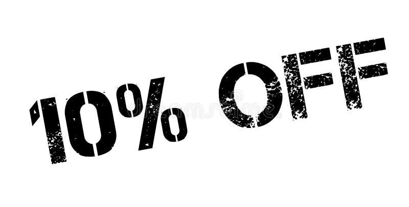 10 pour cent outre de tampon en caoutchouc illustration libre de droits