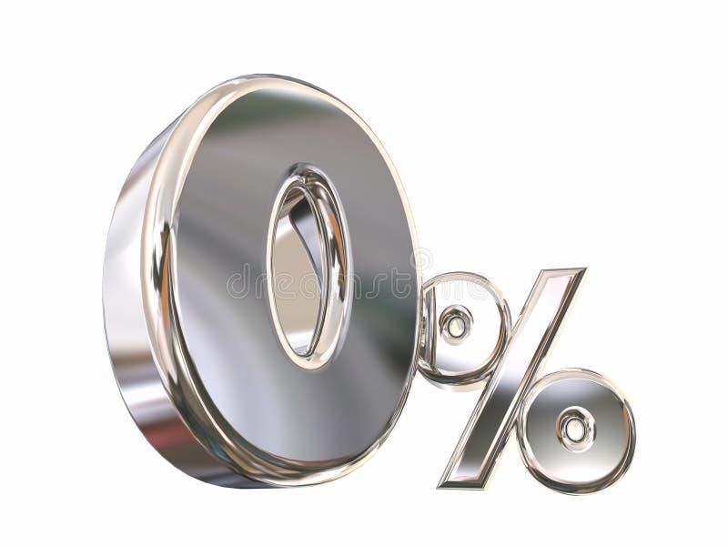 Pour cent zéro les 0 bas aucun intérêt Rate Financing illustration de vecteur