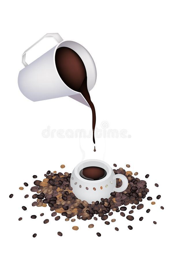 Download Pour A Delicious Hot Coffee By Measure Cup Stock Photo - Image: 33202274