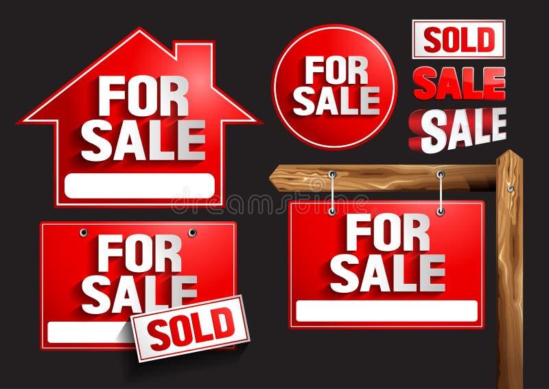 Pour des symboles de signes de vente illustration libre de droits