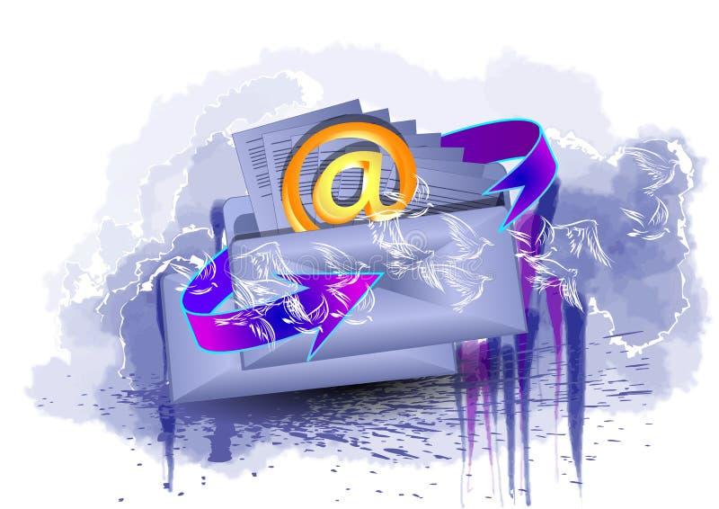Pour envoyer une lettre illustration de vecteur