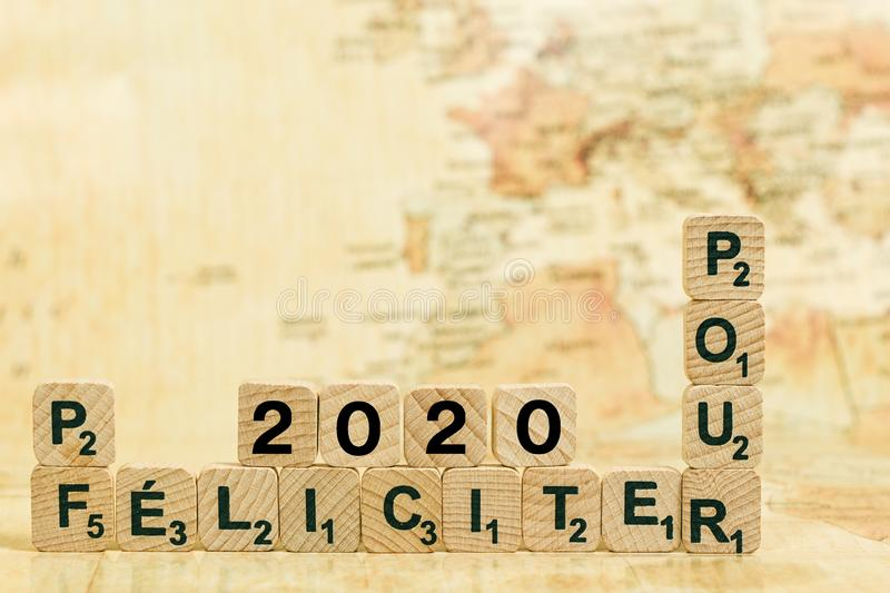 Pour Félicites 2020. And Happy new year royalty free stock image