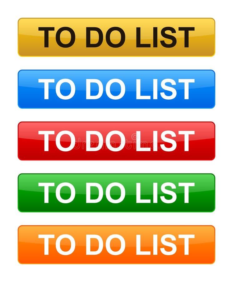 Pour faire des boutons de liste illustration stock
