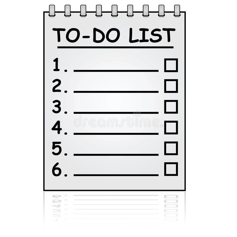 Pour faire la liste illustration de vecteur