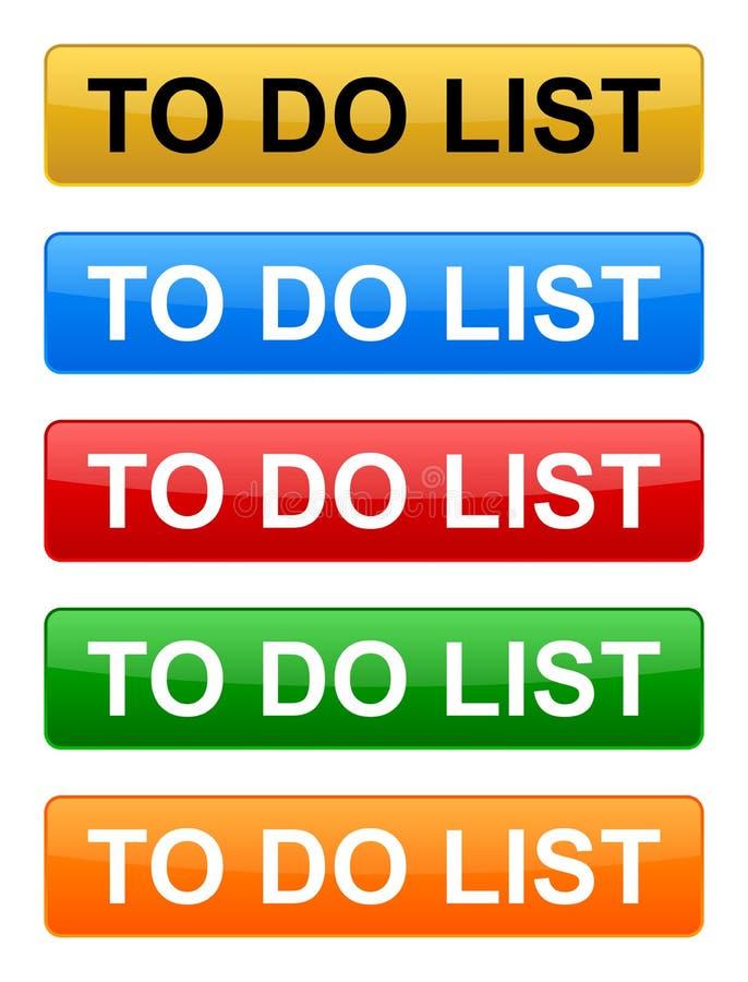 Pour faire le bouton de liste illustration stock