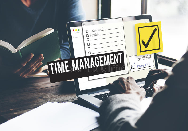 Pour faire le rappel de gestion du temps de liste donnez la priorité au concept photo stock