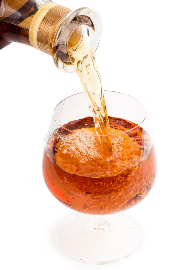 Pour A Glass Of Wine Royalty Free Stock Images