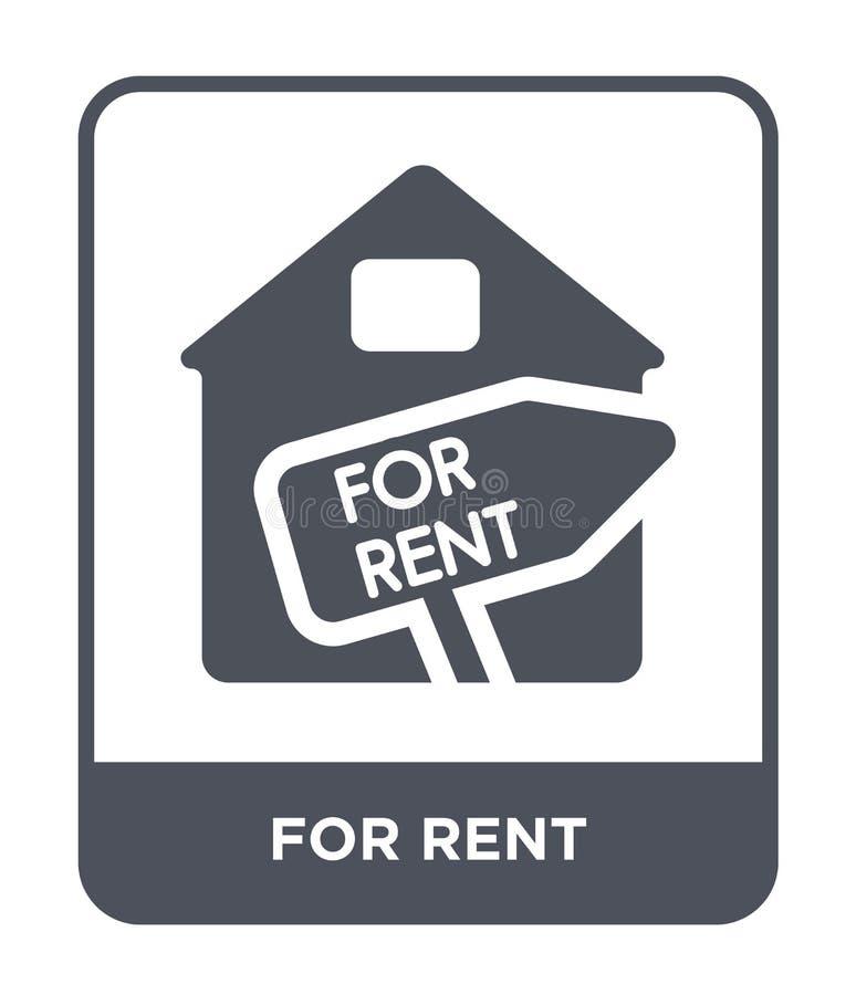 pour l'icône de loyer dans le style à la mode de conception pour l'icône de loyer d'isolement sur le fond blanc pour l'appartemen illustration stock