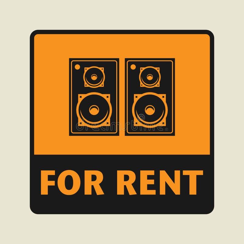 Pour l'icône ou le signe de loyer illustration libre de droits