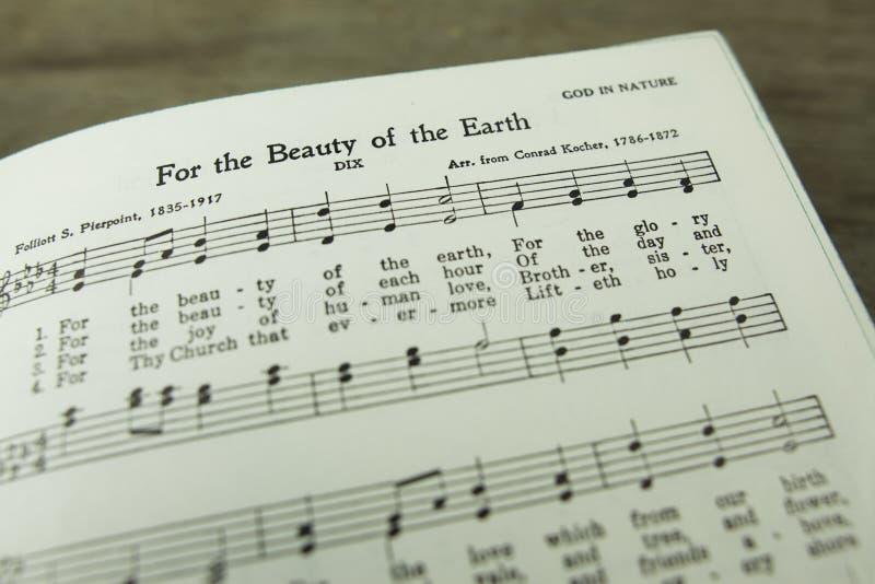 Pour la beauté de la terre Christian Hymn par Folliott S Pierpoint photo libre de droits