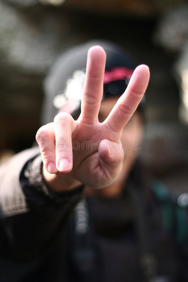 Pour la paix photo libre de droits