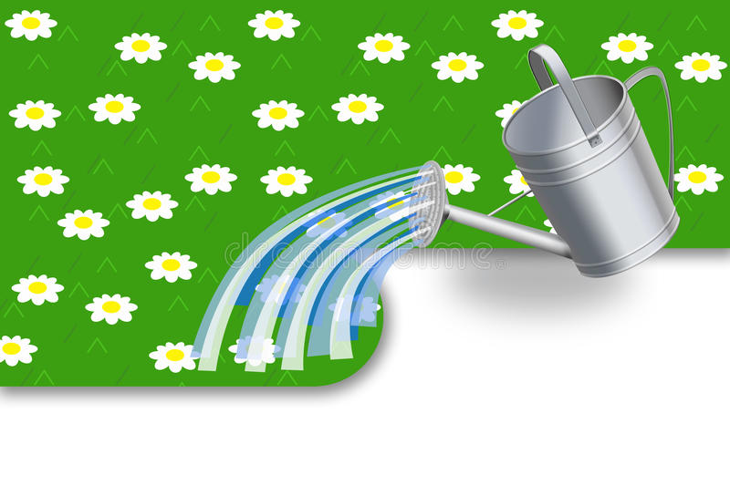 Download We pour a lawn stock illustration. Image of nature, pour - 12062046