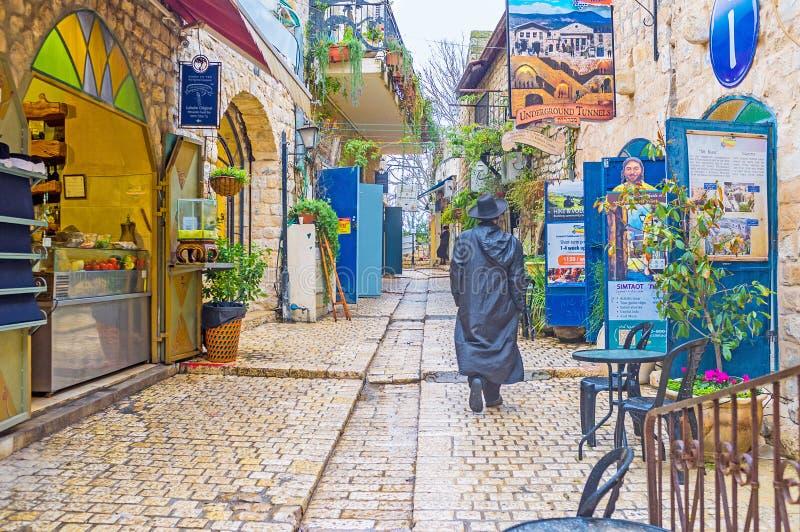 Pour manger dans Safed photographie stock libre de droits