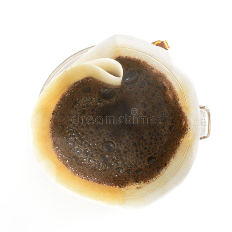 Pour over brewed coffee royalty free stock photos