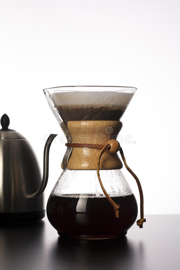Pour Over Coffee stock images