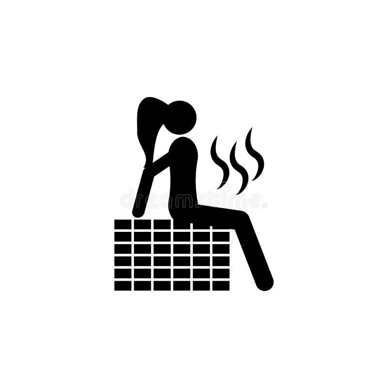Pour prendre un sauna Éléments d'icône de salle de beauté Conception graphique de qualité de la meilleure qualité Signes, icône d illustration stock