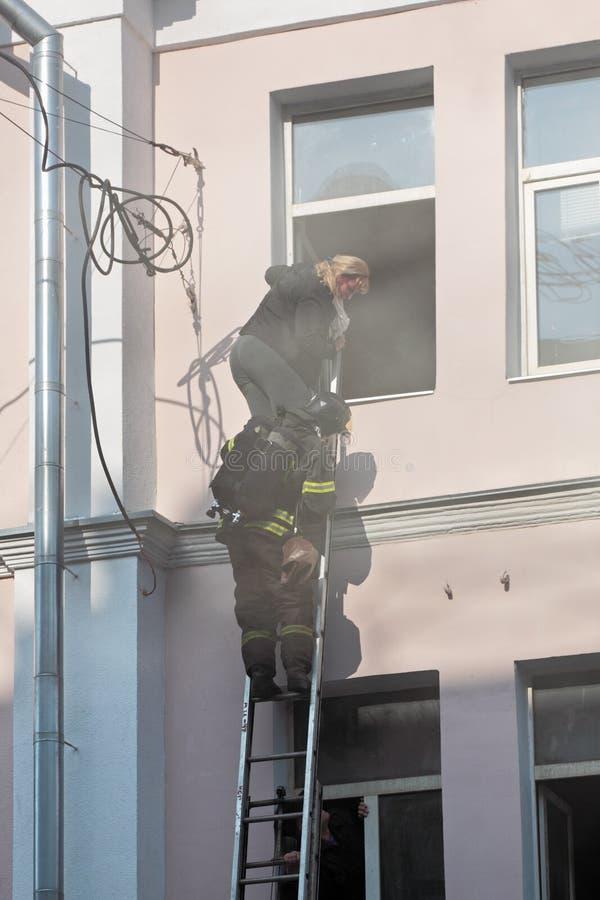 Pour s'éteindre un incendie photo libre de droits