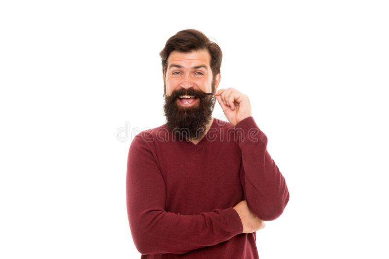 Pour se laisser pousser la barbe impressionnante, tout simplement loin votre rasoir et trimmer et attente Homme avec la longue ba photo stock