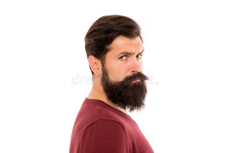 Pour se laisser pousser la barbe impressionnante, tout simplement loin votre rasoir et trimmer et attente Simplement requis pour  image libre de droits