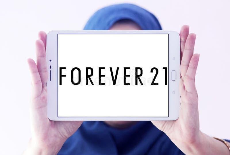 Pour toujours logo de détaillant de 21 modes photo stock
