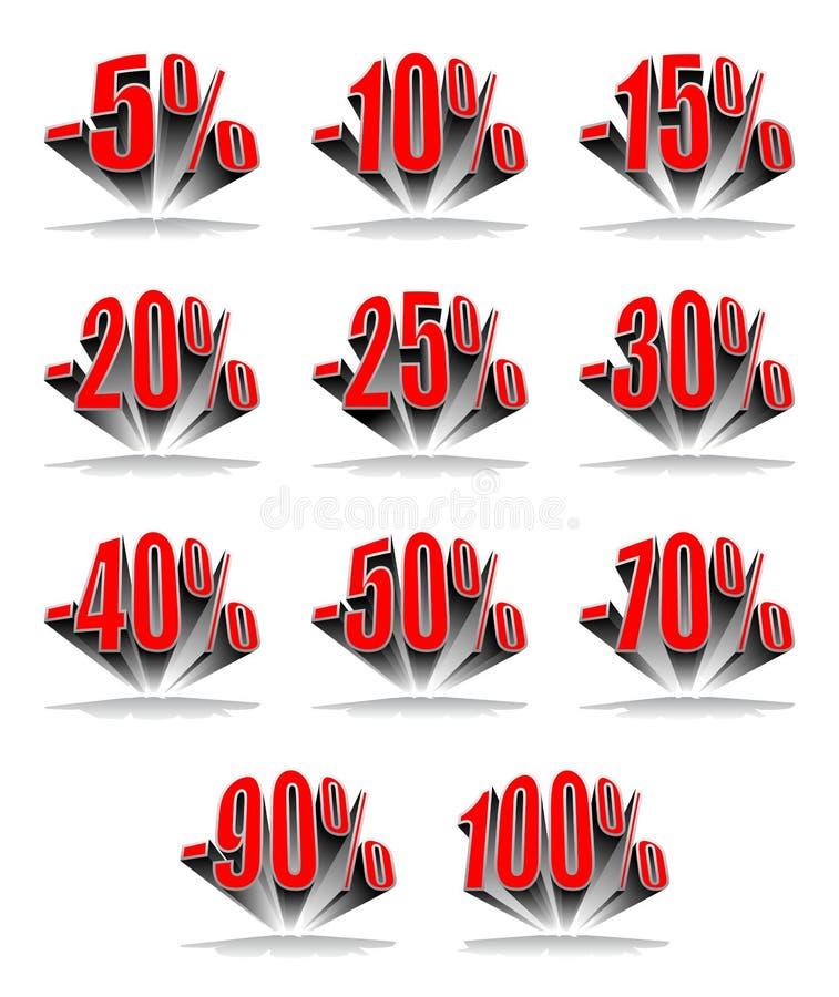 Pourcentage d'escompte illustration de vecteur