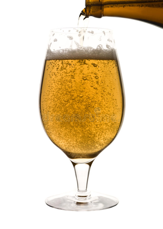 Download Poured beer stock image. Image of white, amber, head - 10614903