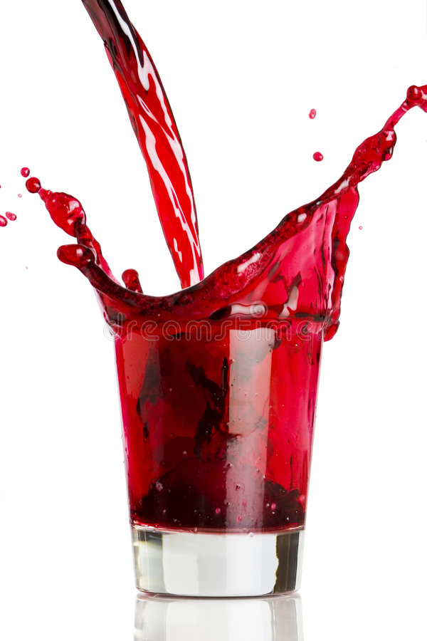 Free Pouring A Red Beverage Royalty Free Stock Photography - 1915077