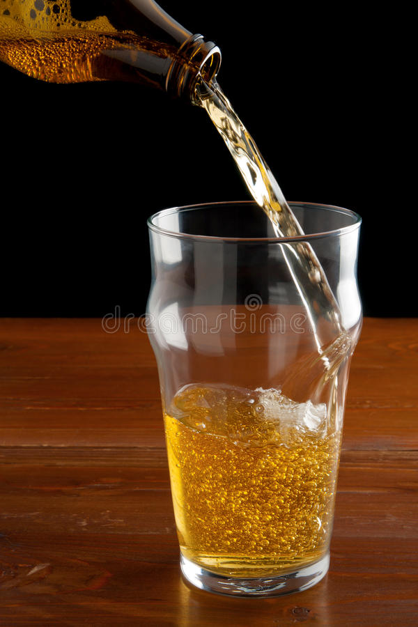 Download Pouring Beer stock image. Image of lager, background - 18332619