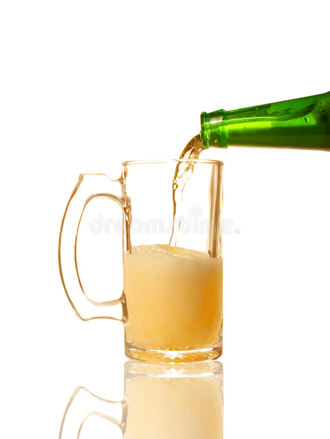Pouring beer royalty free stock photos