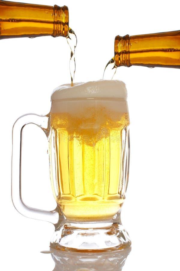 Download Pouring beer into mug stock photo. Image of golden, barley - 8142838