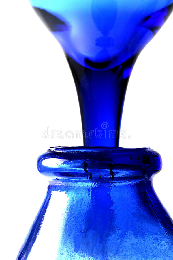 Pouring Blue stock image