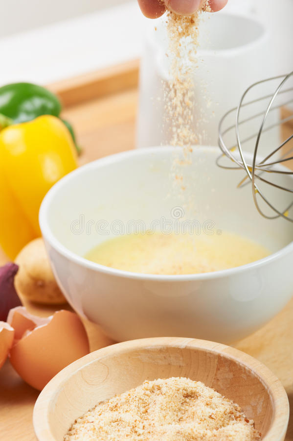 Download Pouring breadcrumb stock photo. Image of ingredient, cuisine - 20235678