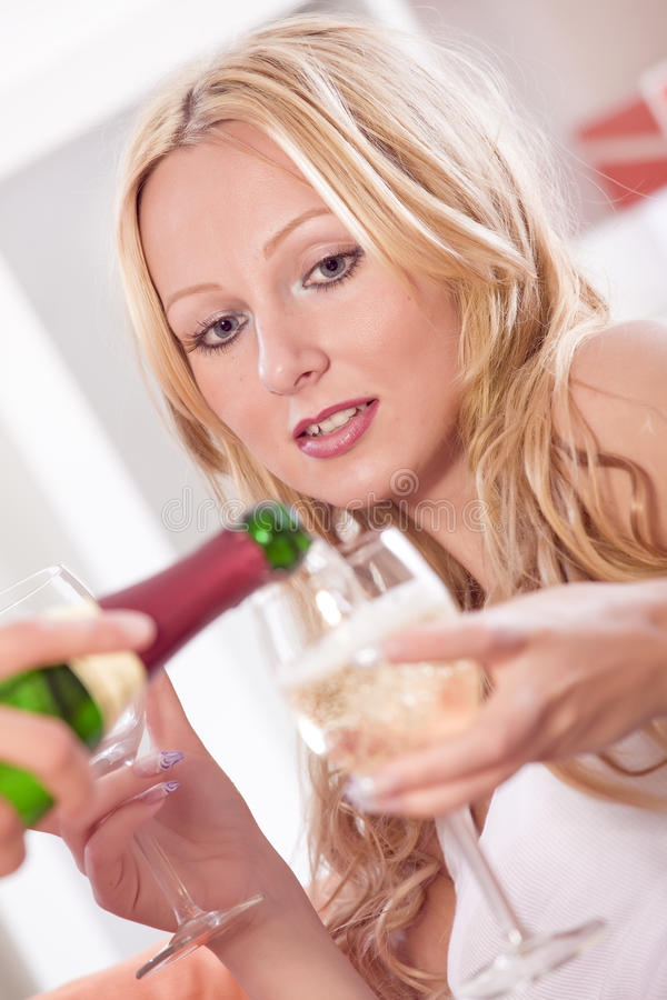 Download Pouring Champagne Stock Image - Image: 20191901