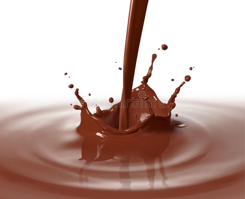 Pouring chocolate stock images