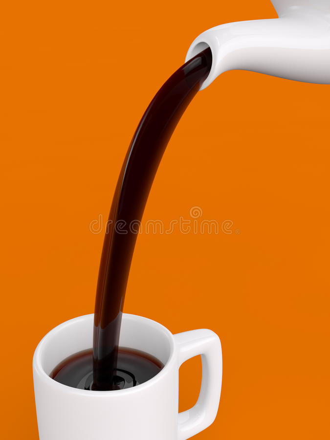 Free Pouring Coffee Stock Photography - 19915542
