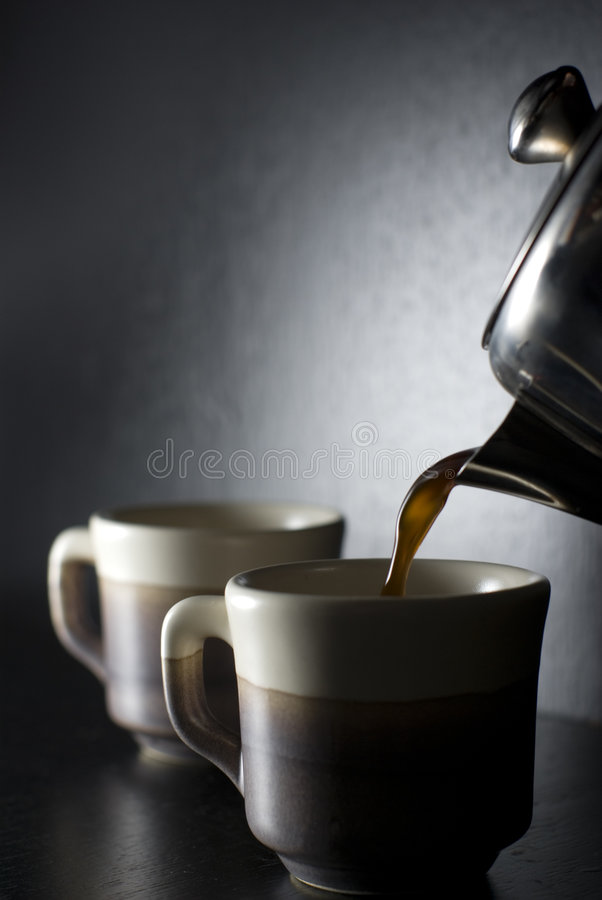 Download Pouring coffee stock photo. Image of drink, espresso, breakfast - 6609718