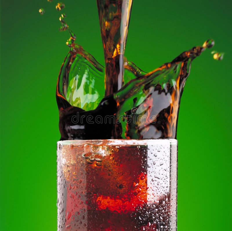 Download Pouring a cola in glass stock photo. Image of soft, soda - 2801484