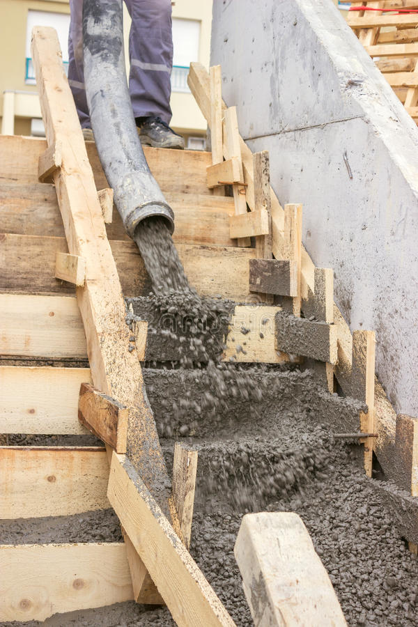 Great Download Pouring Concrete Steps 2 Stock Image. Image Of Casing   33537075