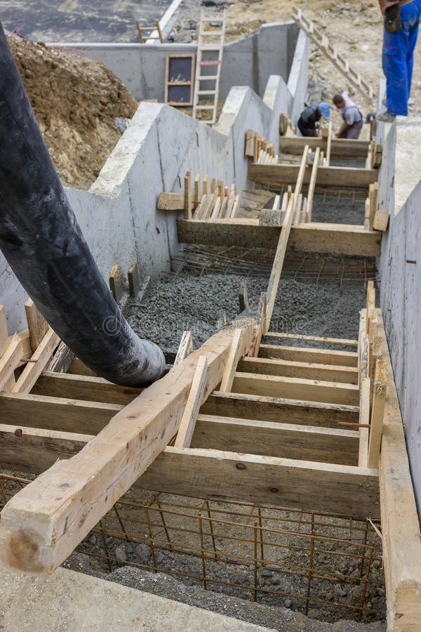 Download Pouring Concrete Steps 4 Stock Photo. Image Of Craftsman   33537352