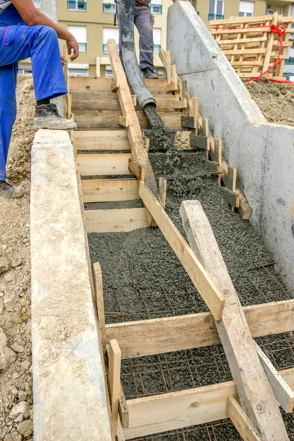Download Pouring Concrete Steps Stock Photo. Image Of Fitter, Erector    33537654