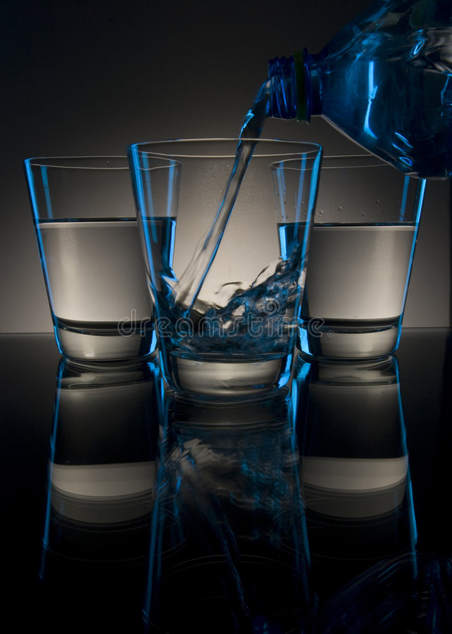Pouring Drink In Glass Stock Photos
