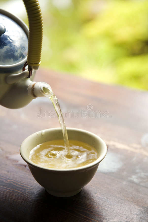 Download Pouring Green Tea from Pot stock image. Image of freshness - 7694829