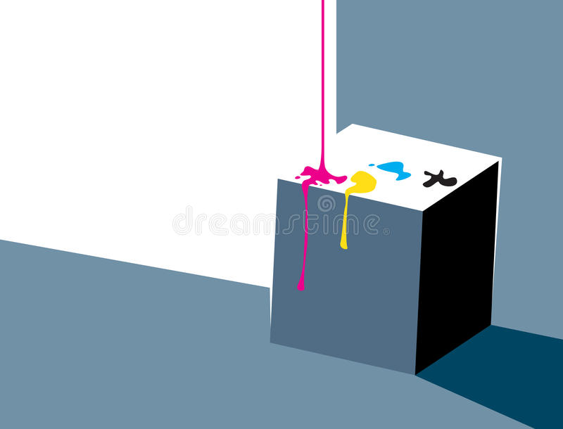 Download Pouring Ink Onto A Cube - Minimalistic Design Stock Illustration - Illustration of design, artistic: 20564438