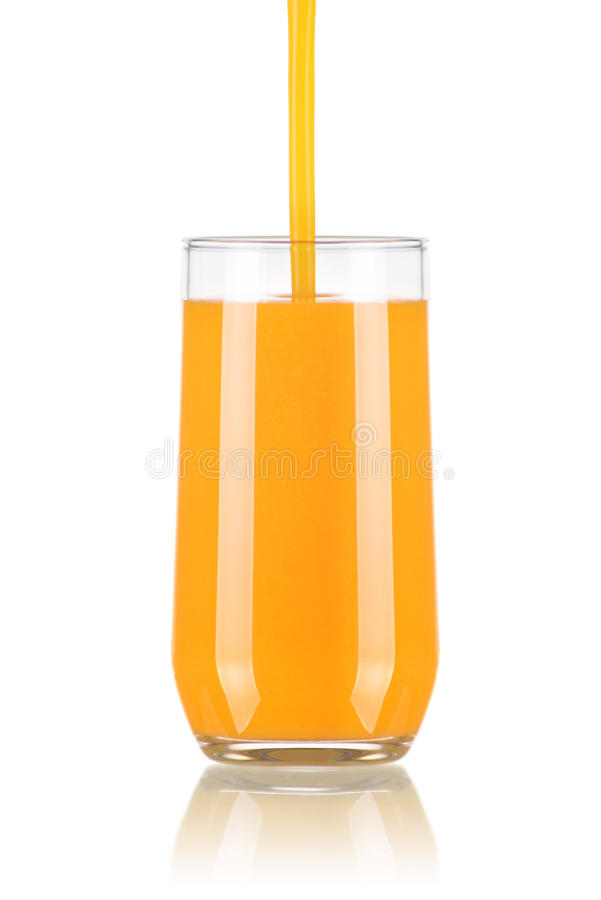 Pouring Juice in a Glass royalty free stock photos